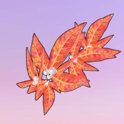 Golden Leaves One Side Left Orange