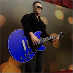 Jazz/Blues Guitar Blue (Wearable)