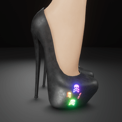 RGB skully heels (animated rainbow effect)