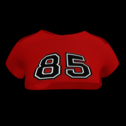Sexy 85 Crop Top (Red)