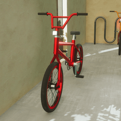Bike Dynamically Drivable, Animated & Scripted