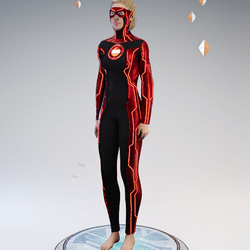 Ultimate Disc Gamesuit (base red female)