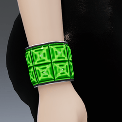 2X Quantum-Green Silver Trims Go-GLOW Bracelet - Female