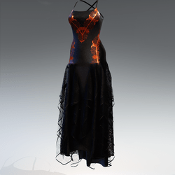 Halloween witch dress - orange