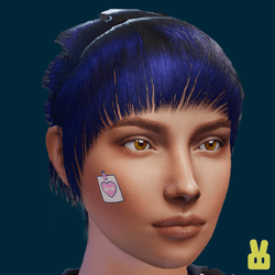 face stickers - note