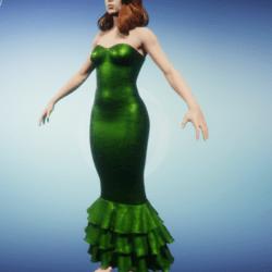 mermaid dress--   serpent