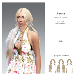 Renne side style -blond base