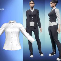 Womans Suit Shirt