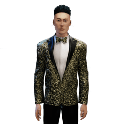 Glitter Tuxedo gold