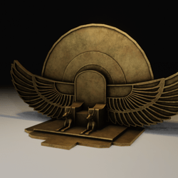 Egyptian Winged Throne