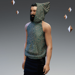 'Headspace' Abstract (δ) Sleeveless Hoodie - Unisex