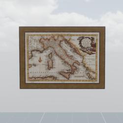 Ancient map of the Italian peninsula