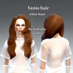 vania hair -white base