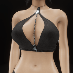 Chain Top halter (black cloth)