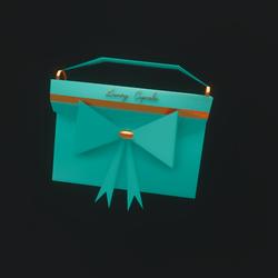 Luxury Cupcake Purse (Aquamarine)