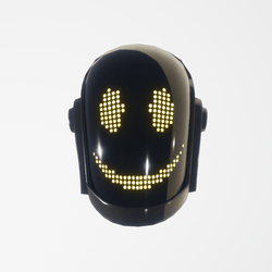 Daft-Punk Helmet Guy smile (black)