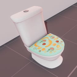 Classic toilet - sblue fruit cover (animated)