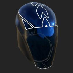 GARY UNISEX  HELMET GLASS EMISSIVE ANIMATED  BLUE