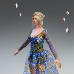 LV Dress Floral Blue