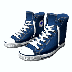 Shoes San-Star sneakers high blue for man