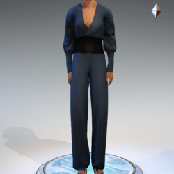 Wrapped Pantsuit - Linen and Leather - Teal