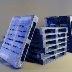 Blue Painted Pallet