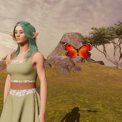 Animated Butterfly pet sunrise [Earing slot]