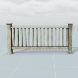 Wood Railing 1