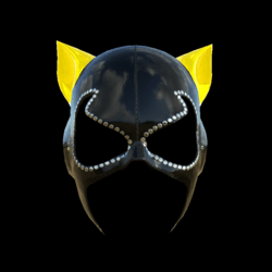 CATWOMAN MASK_ V2  YELLOW_ EMISSIVE_