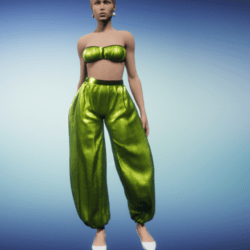 harem outfit_chartreuse