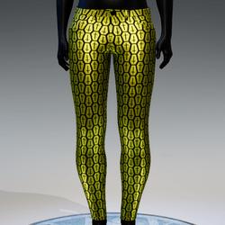 Coffin Cross Metallic Skinny Jeans [Yellow]