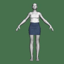 Denim Skirt & WhiteTop