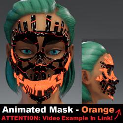 Animated Mask: Orange - Female Avatars