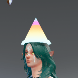 Geometric Cone rave hat