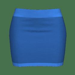 Woman Simple Skirt - Medium blue
