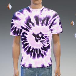 Purple Glowing Tie-Dye T-Shirt - Male