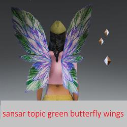 sansar topic green wings butterfly