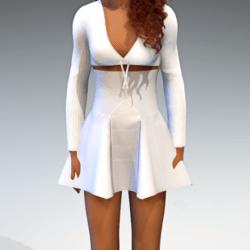 High Waisted Panel Mini Skirt - White Leather