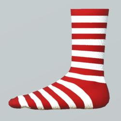 Striped Girl Socks white-red