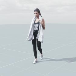 Myriam walking 3D scan static model