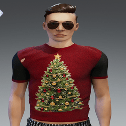 [INTOXICATED[ Xmas Tree shirt  FREE!