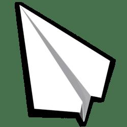 Paper Airplane 03 - White - Collision Mesh