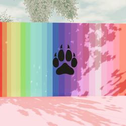 WolfenKind Rainbow Painting