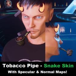Tobacco Pipe - Snake Skin