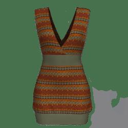 Tube Dress Deep Neck - Boho