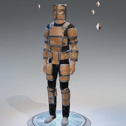 cardboard armor male