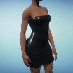 Black Rubber Party Dress