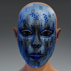 Metal Mask Facie Blue