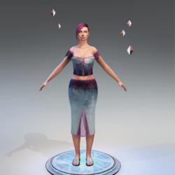 Plastic Denim Pink Skirt