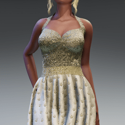 Golden Classic Gown